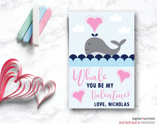 Whale Valentine's Day Card