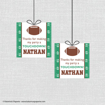 Football Birthday Favor Tags