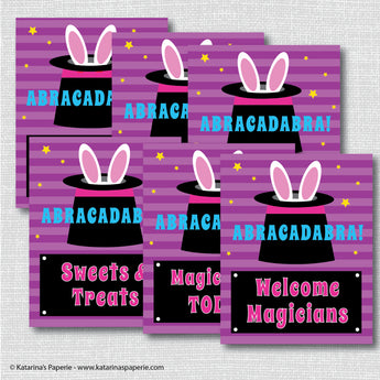 Girl Magic Party Signs Set (Instant Download)