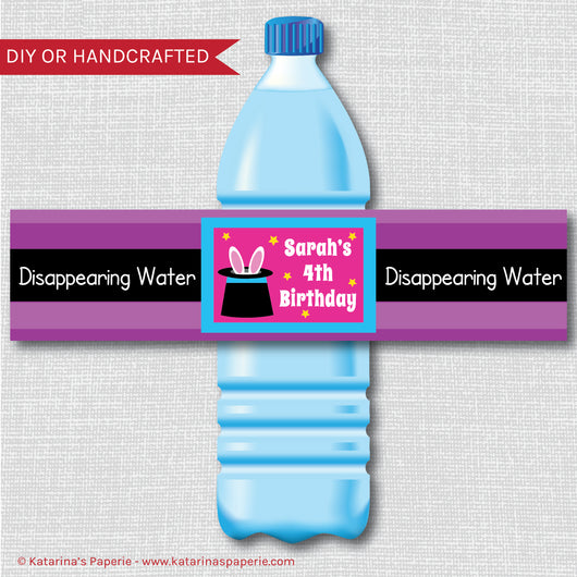 Girl Magic Water Bottle Labels