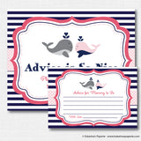 Girl Whale Baby Shower Games Set