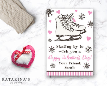 Ice Skating Valentine's Day Card