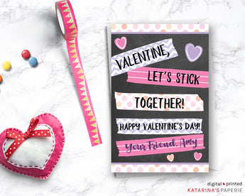 Let's Stick Together Valentine's Day Card