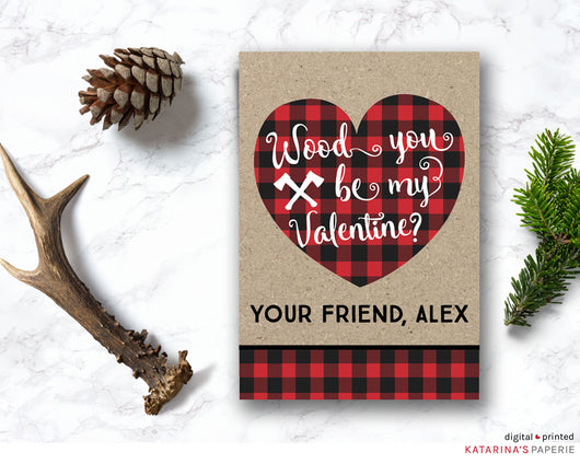 Wood You Be Valentine's Day Card