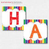 Classic Rainbow Happy Birthday Banner - DIY