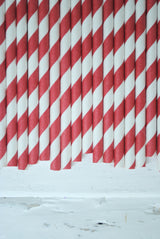 Christmas Red and Green Mix Paper Straws