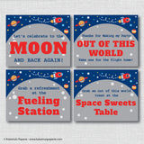 Rocket Ship Party Signs Set (Instant Download)
