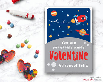 Rocket Ship Valentine's Day Card