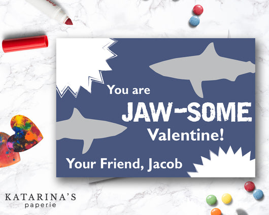 Shark Valentine's Day Card