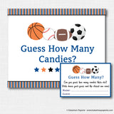 Sports Baby Shower Games Set