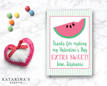 Extra Sweet Watermelon Valentine's Day Card