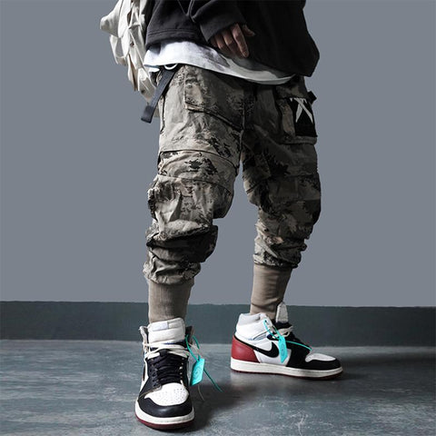 camo cargo techwear pants