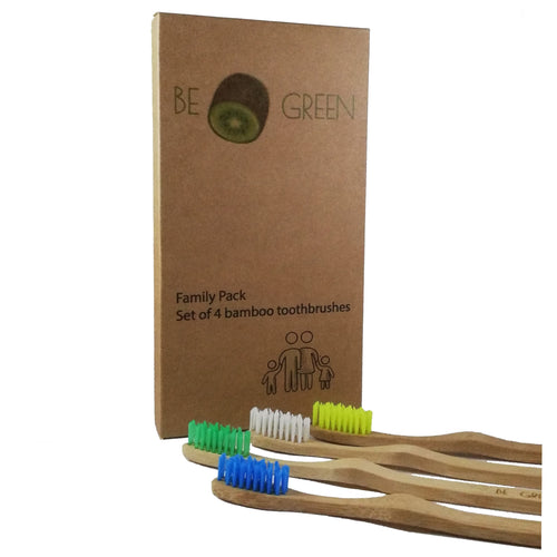 Bamboo Toothbrush (family pack of 4)