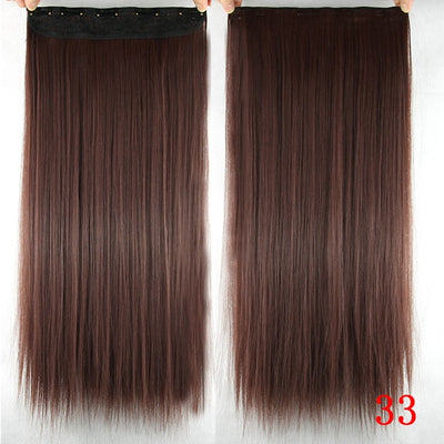 Long Straight Synthetic Clip in Hair Extensions