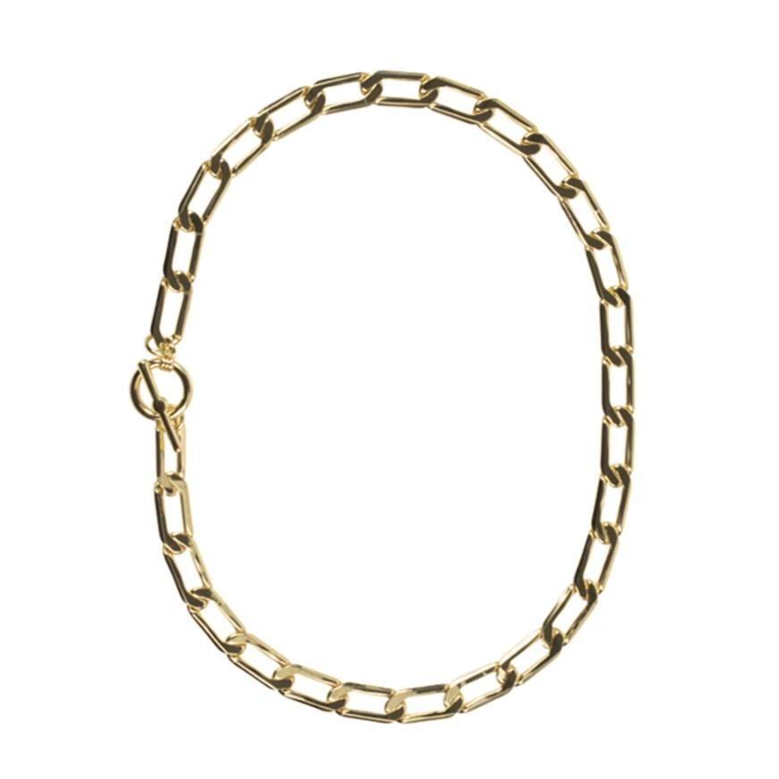 Flavia T-bar Chain Necklace - HAYGEN
