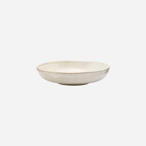 House Doctor - Pion Shallow Bowl - White/Grey - HAYGEN