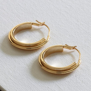 Big Metal - Irina Circular Hoop Earrings - HAYGEN