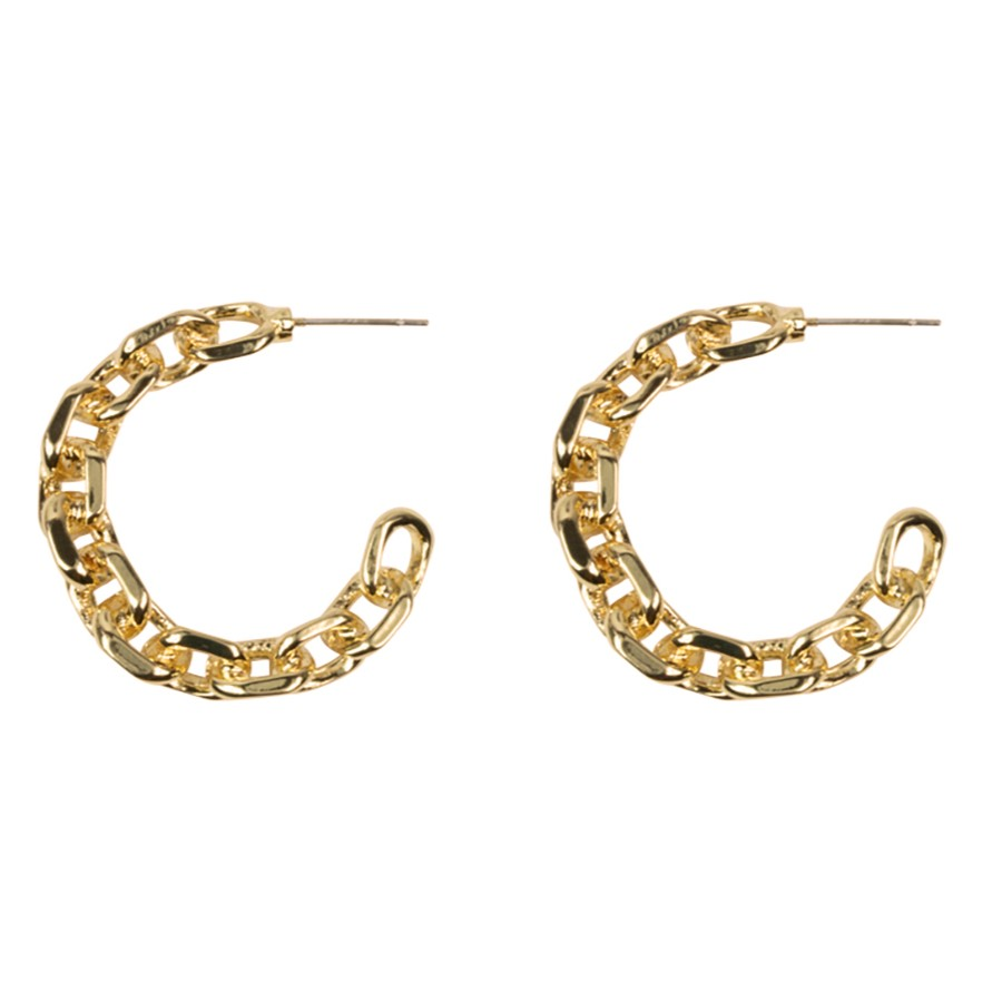 Orla Chain Hoop Earrings - HAYGEN
