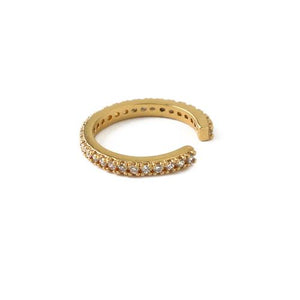 Pave Single Ear Cuff - Gold - HAYGEN