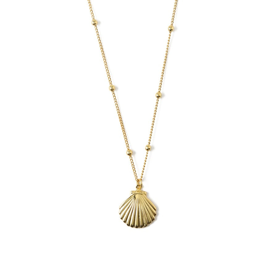 Metal Shell Satellite Chain Necklace
