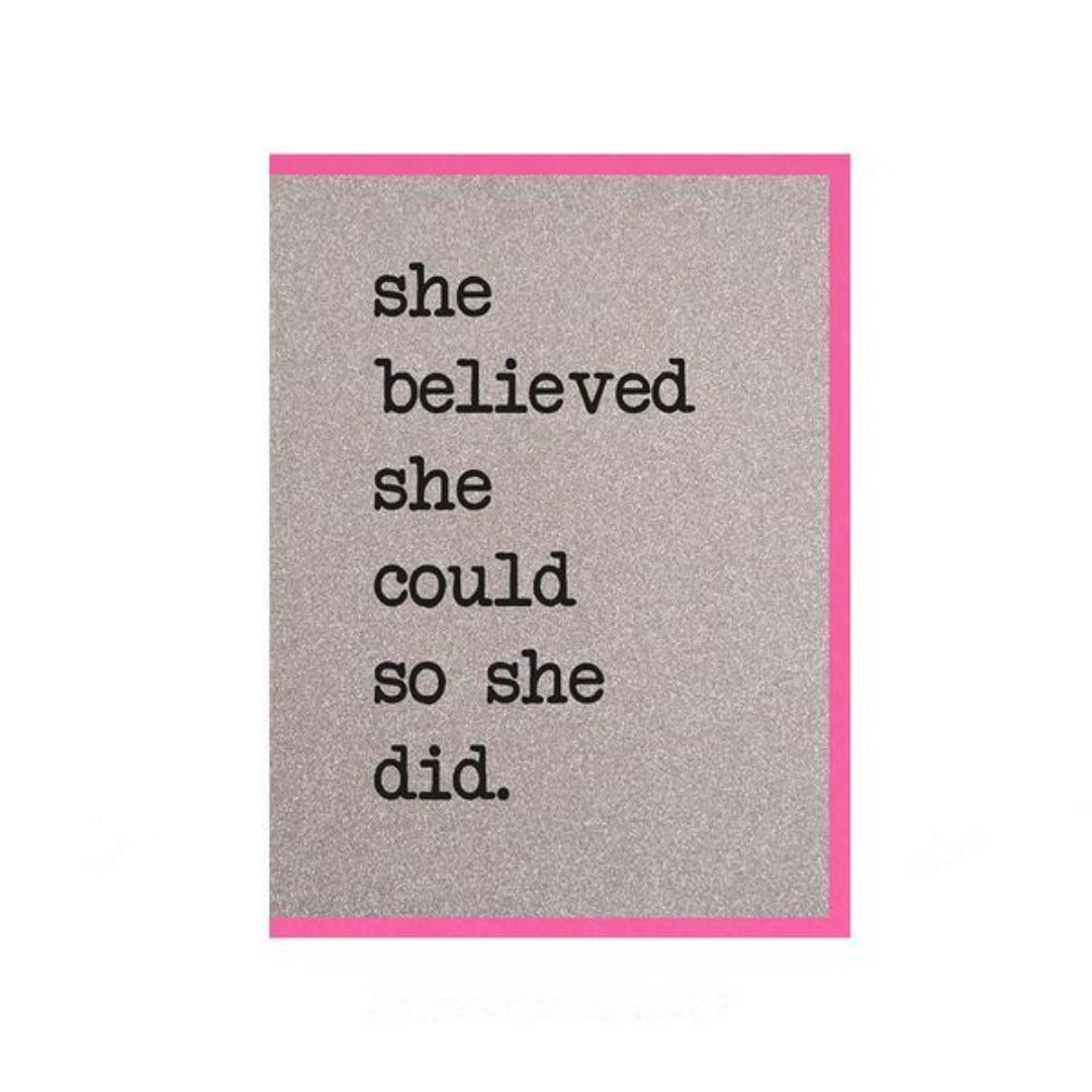 Counting Stars - She Believed She Could Glitter Card - HAYGEN