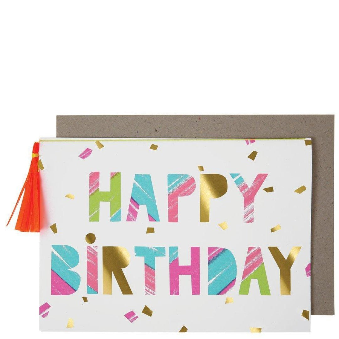 Meri Meri Happy Birthday Paint Strokes Card - HAYGEN