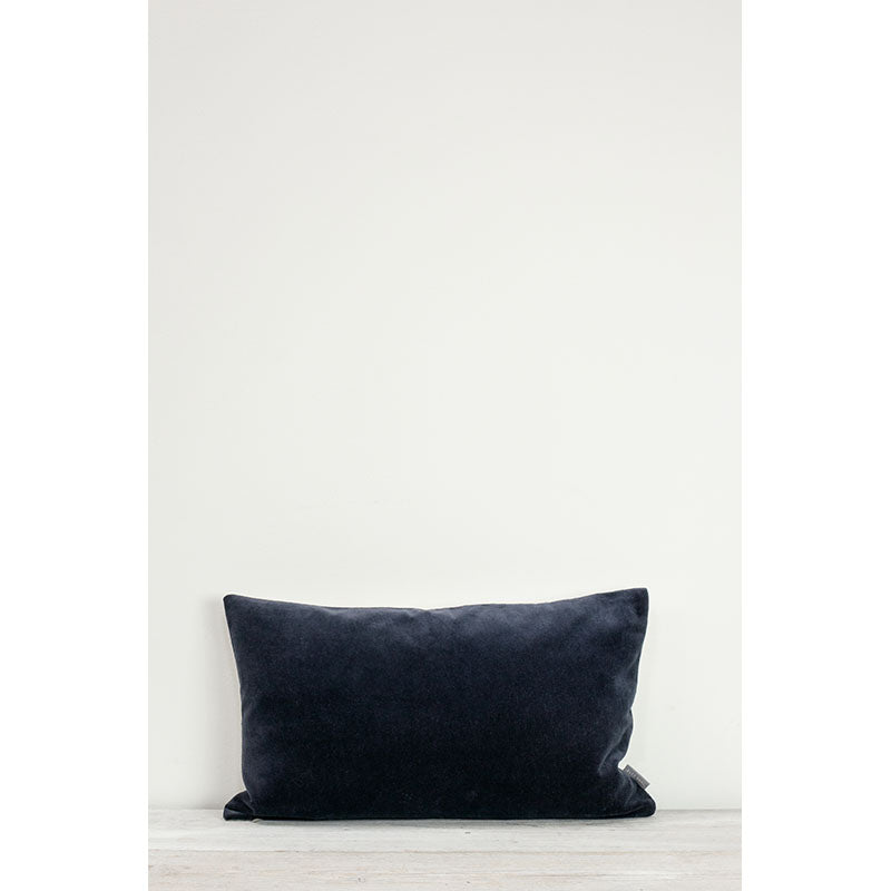 Also Home - Misi Velvet Cushion - Indigo -30x50cm - HAYGEN