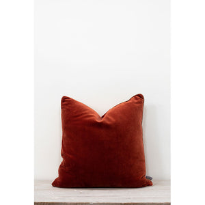 Also Home - Unari Velevet Cushion -Rust - 50x50 - HAYGEN