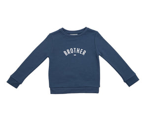 Bob & Blossom - Denim Blue 'Brother' Sweatshirt - HAYGEN