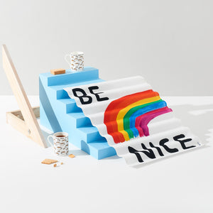 David Shrigley - Be Nice Tea Towel - HAYGEN