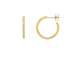 Estella Bartlett - Pave Set Large Hoop Earrings - HAYGEN