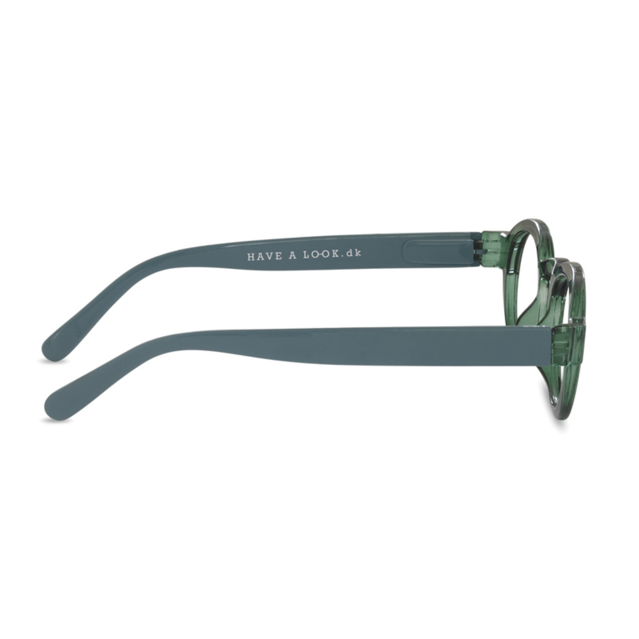 Have a look - Reading glasses circle twist - Green/Light Blue