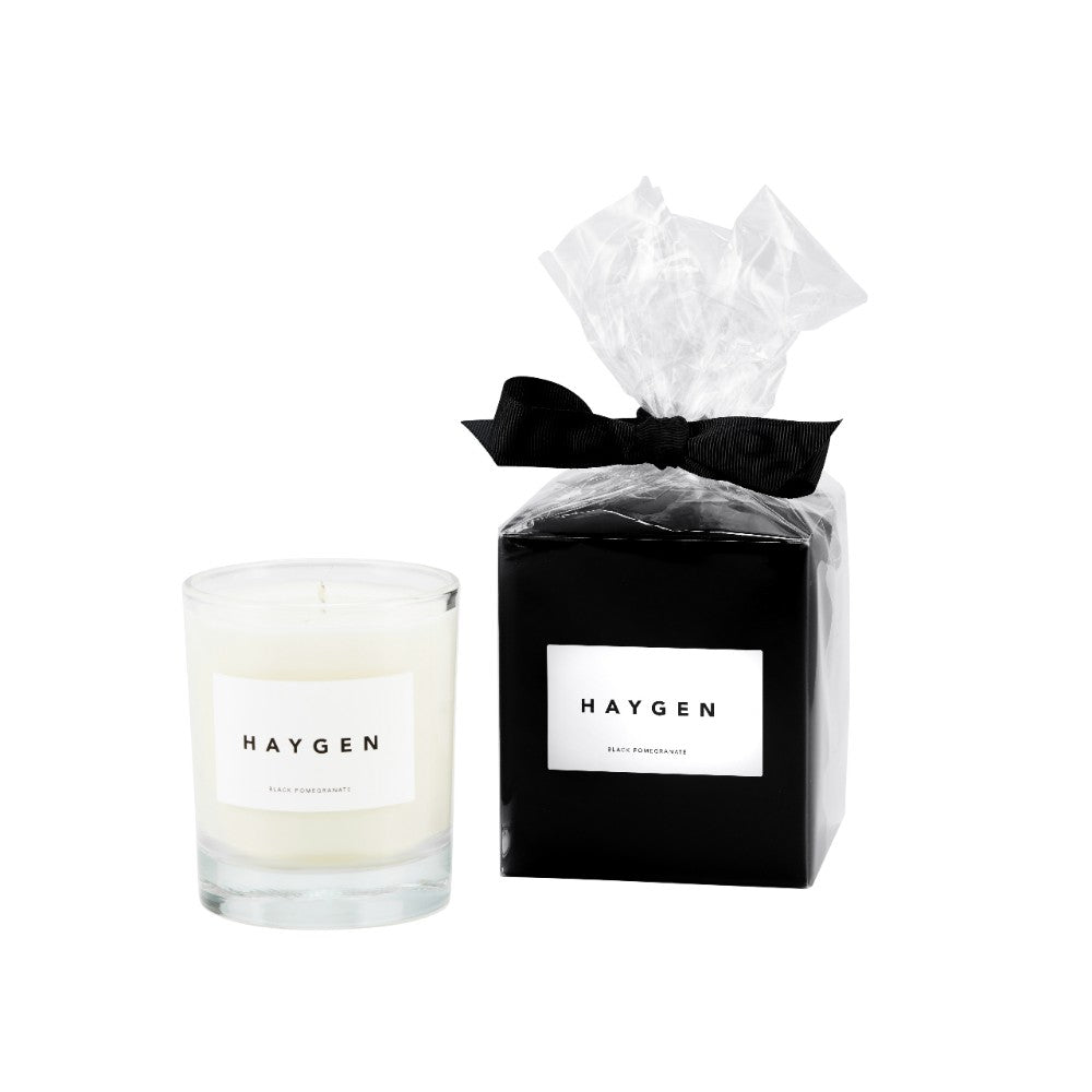 Haygen - Candle Medium Black Pomegranate - HAYGEN