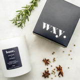 WXY - Haze Candle - Patchouli & Hemp