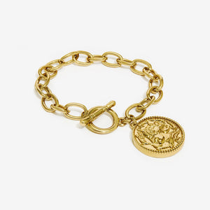 Nali - GOLD CHAIN BRACELET WITH COIN PENDANT