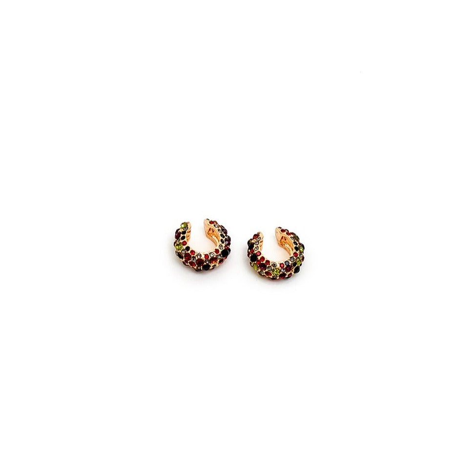 Nali - CURVED EARCUFF WITH MULTI CRYSTALS - HAYGEN