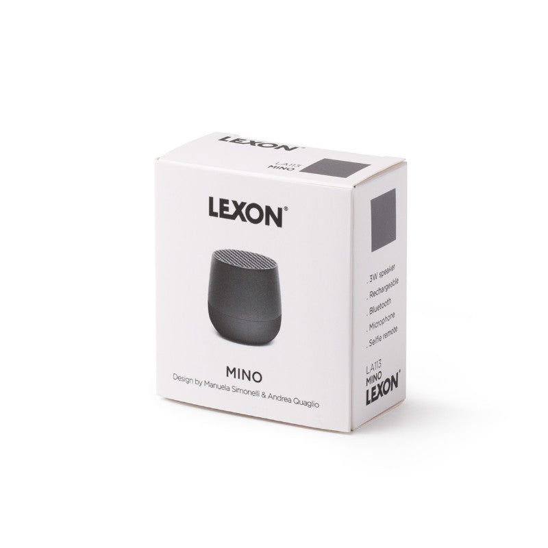 Lexon - MINO Bluetooth Speaker - Gun Metal - HAYGEN