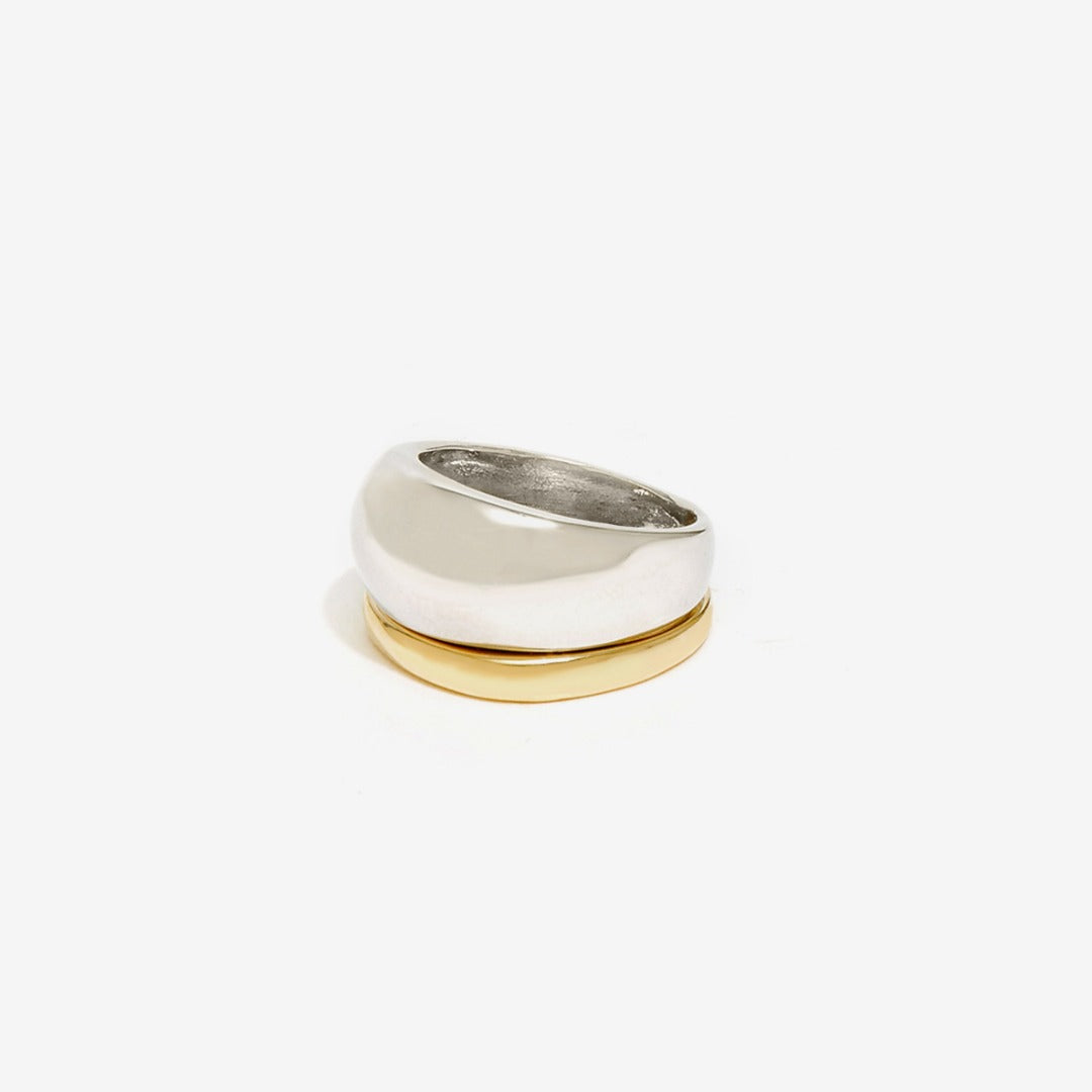 Nali - ROUND BRASS DOUBLE RING - HAYGEN