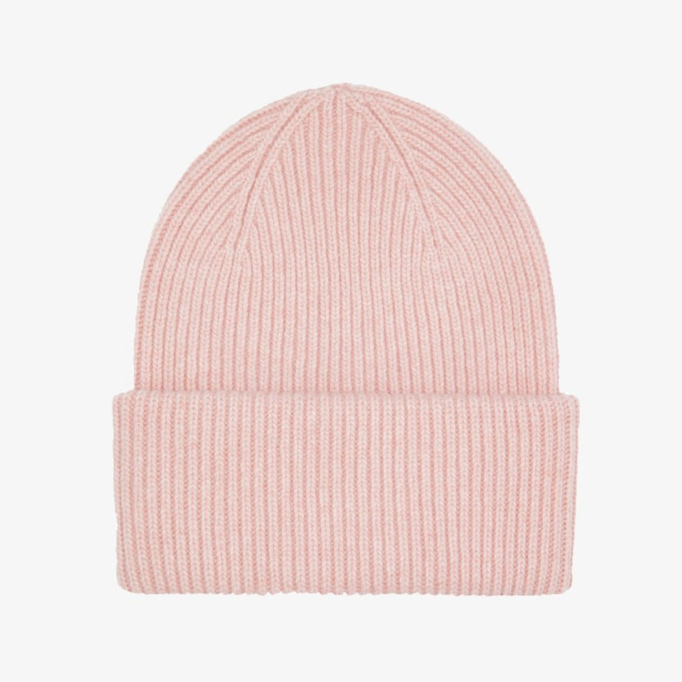 Colorful Standard Merino Wool Beanie Faded Pink - HAYGEN
