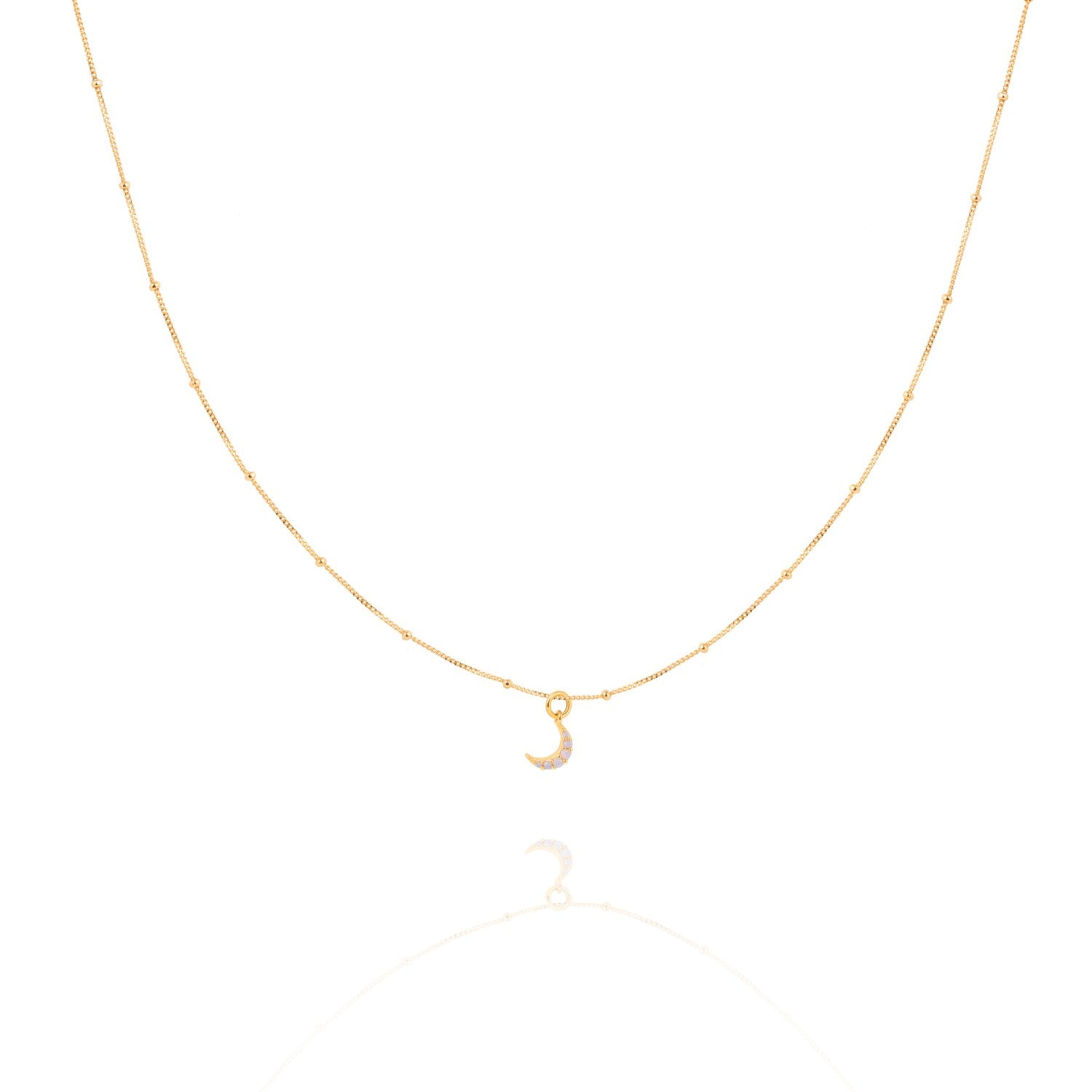 Astrid & Miyu - Mystic Moon Necklace - Gold