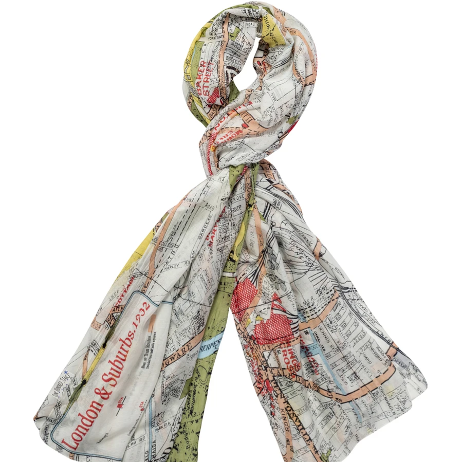 One Hundred Stars - Map Scarf London