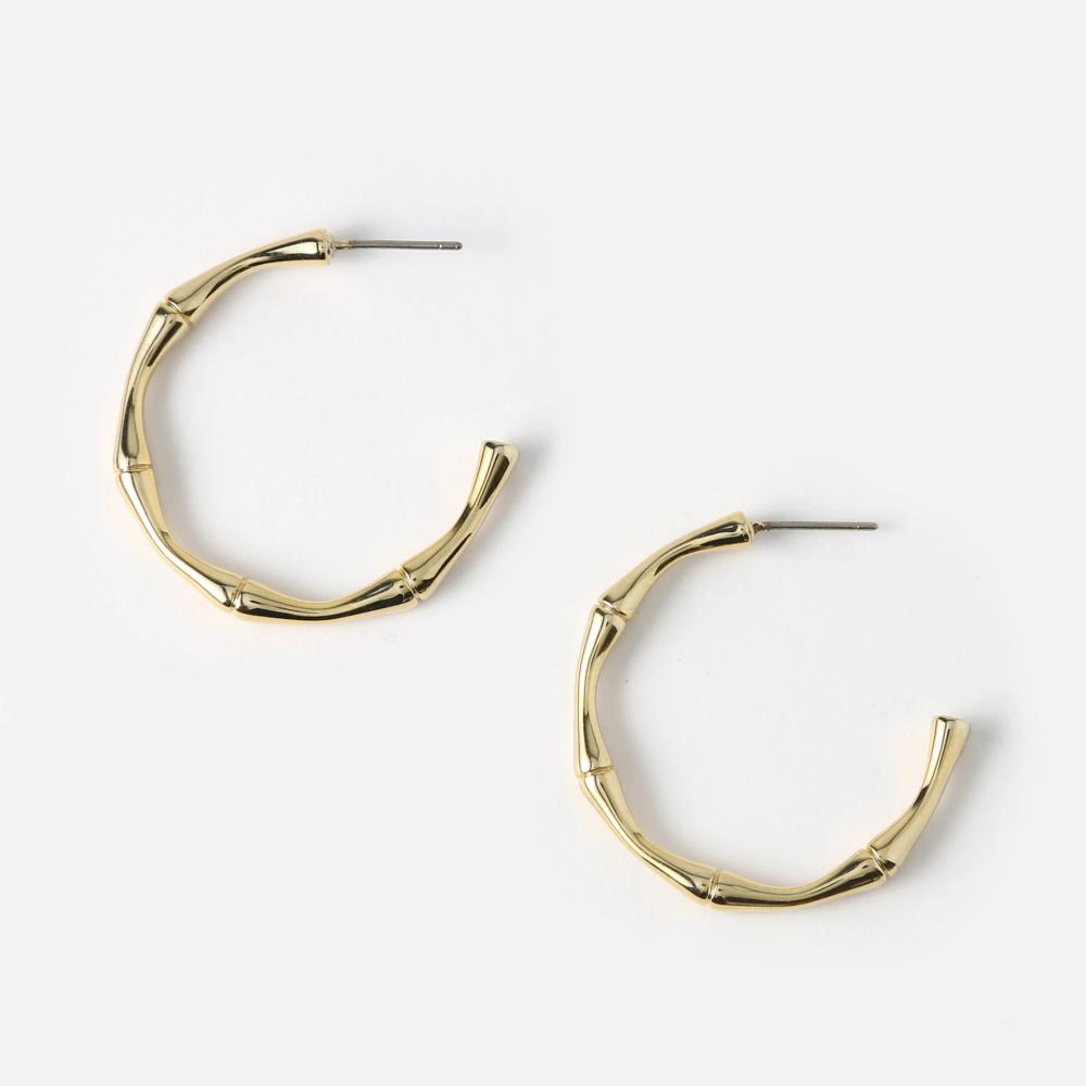 Orelia - Bamboo Hoop Earrings