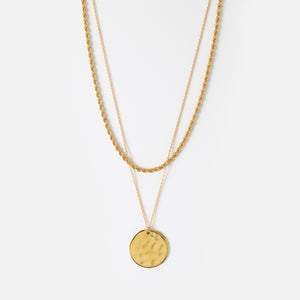 Orelia - Rope and Coin Necklace