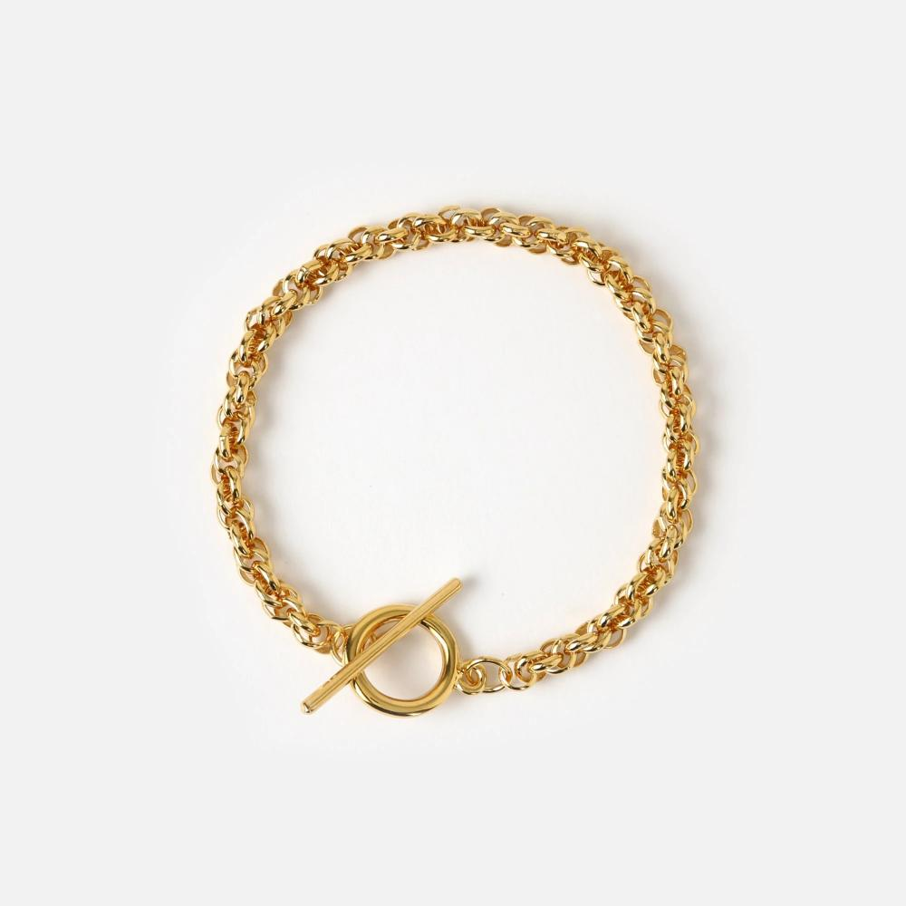Orelia - Rope Chain T-bar Bracelet