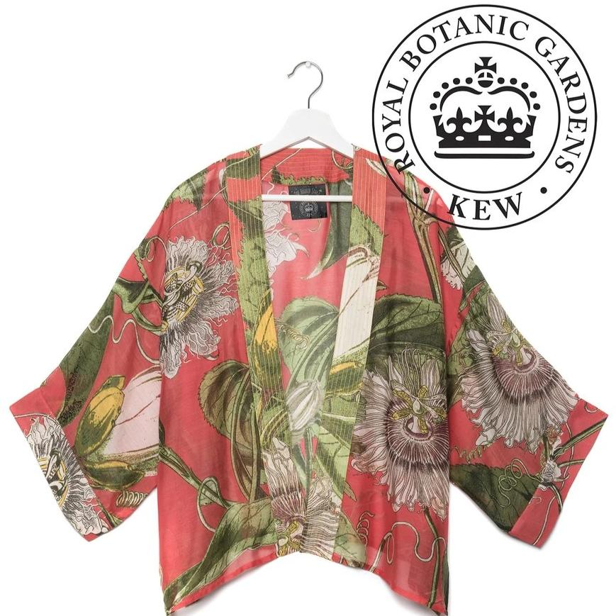 One Hundred Stars - KEW Kimono - Passion Flower Coral - HAYGEN