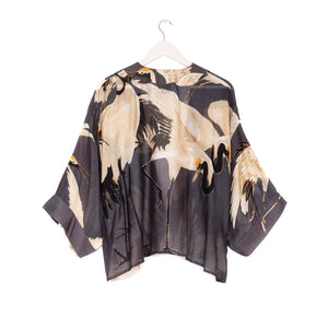 One Hundred Stars - Kimono - Stork Charcoal