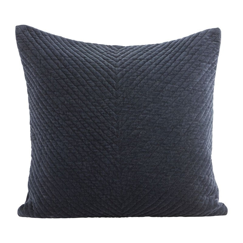 House Doctor - Velvet Pillowcase - Blue/Petrol - 50cm - HAYGEN