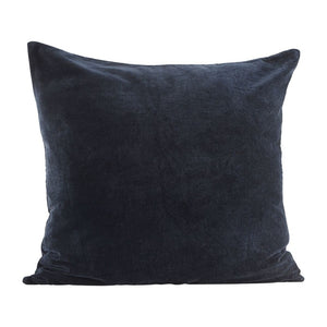 House Doctor - Velvet Pillowcase - Blue/Petrol - 60cm - HAYGEN