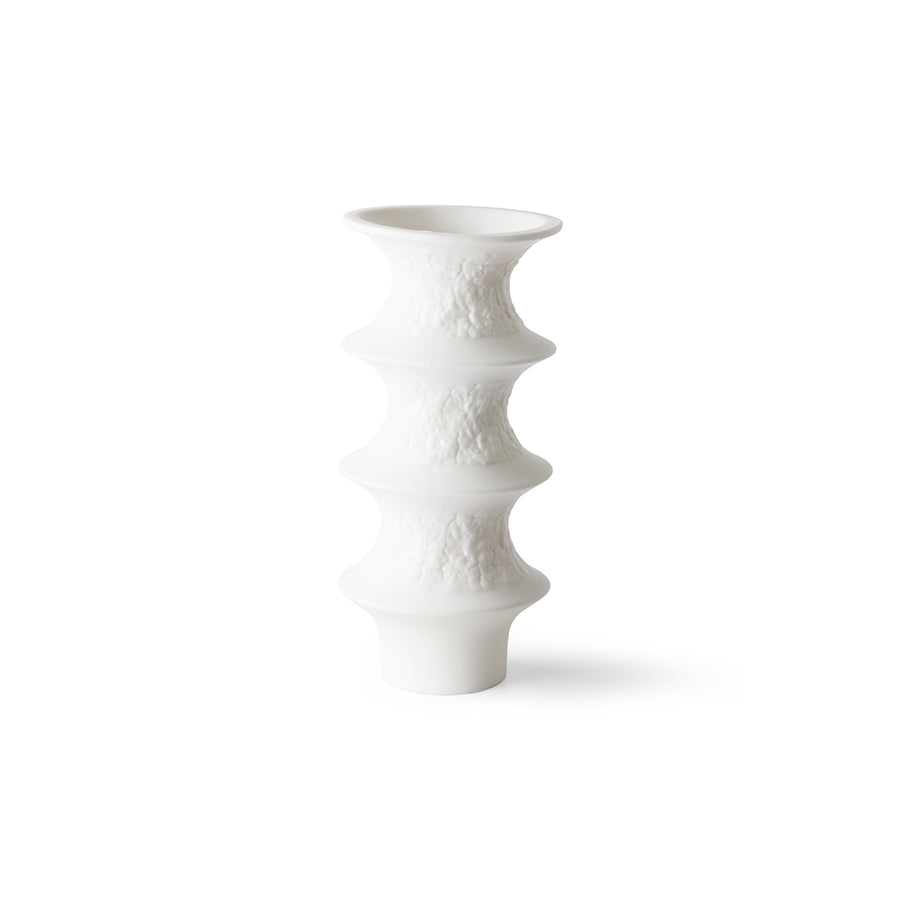 HKliving - Matt White Porcelain Vase - Type 3 - HAYGEN