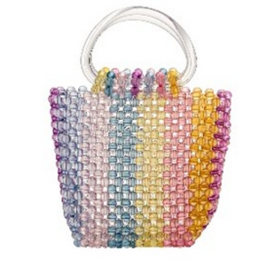 Beaded Handle Bag Multi - Small